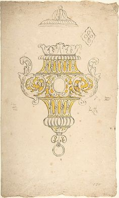 design for hanging vase or lamp