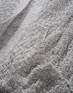 Monochrom gemixtes Tape-Yarn.