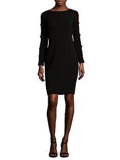 CALVIN KLEIN CUTOUT DETAIL SHEATH DRESS. #calvinklein #cloth #