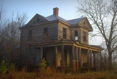 An abandoned house found in the woods ... I <3 this charming old Victorian home.