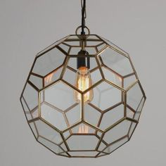 Faceted Glass Paxton Pendant | World Market