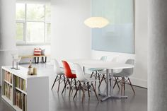 Moulded plastic side chairs