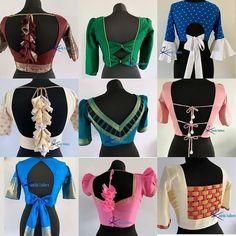 Stylish Blouse Design, Fancy Blouse Designs, Blouse Neck Designs, Blouse Styles, Dress Designs, Saree Blouse Patterns, Stylish Sarees, Latest Dress, Gold Blouse