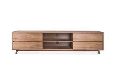 Walnut Low Profile Media Center w/drawers
