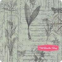Quill Mist Botanical Sketchbook Yardage <br/>SKU