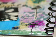 mixed media art canvas  Pink Soul Studios