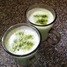 Matcha Latte - just powder mixed with steamed milk. It tastes sweet.