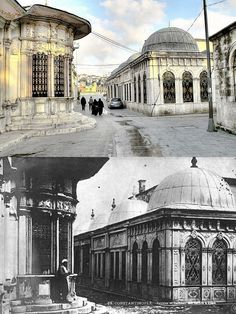 Mihrişah Sultan Sebili, Eyüp. Osmanlı dönemi yılları ve günümüze ait iki fotoğraf.