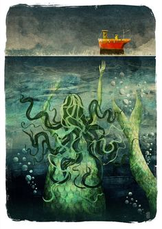 The Mermaid  Signed Giclee Print by JagoIllustration on Etsy, £28.00