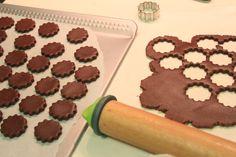 Mini-cookies de chocolate