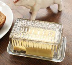 Glass Butter Dish | Pottery Barn