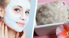 maschera viso fai da te a base di riso