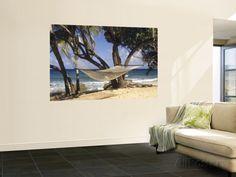 Hammock Tied Between Trees, North Shore Beach, St Croix, US Virgin Islands Wall Mural by Alison Jones at AllPosters.com