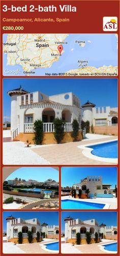3-bed 2-bath Villa in Campoamor, Alicante, Spain ►€280,000 #PropertyForSaleInSpain