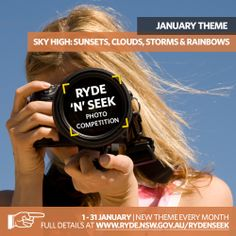 Ryde N Seek January Theme: Sky High - Clouds, Sunsets, Storms and Rainbows. Get your entries in midnight on 31 January 2014. #rydenseek
