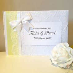 Lemon #wedding #guestbook tonight  ahoydesigns.co.uk  #wedding #brides #weddinginspiration #weddingday #guestbook #lace #ribbon #diy #vintage #classic #shabbychic #bespoke #unique #individual #crafty #craft #love #personalised #engaged #gettingmarried #newlyengaged