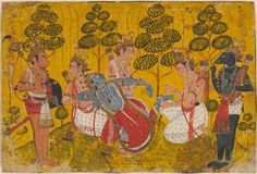 Rama's Brother Pulling a Thorn from His Foot, India, Pahari, c. 1700-10, Harvard Art Museums/Arthur M. Sackler Museum.