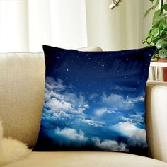 Cloud pillow case 18x18 Decorative Cushion Throw Pillow Cover Sofa Pillow Case #Handmade