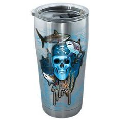 Tervis Tumbler Guy Harvey Pirate Skull Stainless Steel Tumbler with Clear Lid -