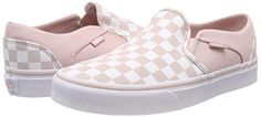 Vans Women''s Asher Classic Checkerboard Slip On Trainers Cool Shoes For Women, Vans Shoes Women, Womens Shoes Wedges, Women's Shoes, Slip On Trainers, Slip On Sneakers, Vans Slip On, Vans Classic Slip On, Yellow Vans