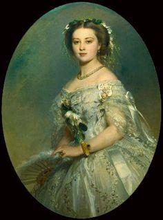 Winterhalter portrait of Victoria, Princess Royal (1840-1901) 1857