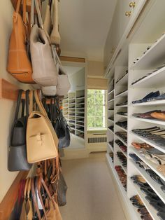 separate area for shoes, handbags & belts... perfect...
