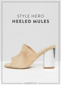 This season, it's all about the heeled mule.