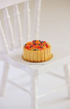1:12 scale Fruit Charlotte Cake by Almadejonge.deviantart.com on @deviantART