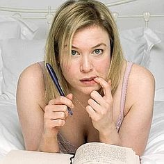 Brigit Jones played by Rene Zellweger in Bridget Jones's Diary