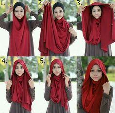 Simple and simple look hijab tutorial . Simple and simple look hijab tutorial … – … Si… Simple and s Niqab, Hijab Mode Inspiration, Stylish Hijab, Hijab Chic, Abaya Designs, Islamic Fashion, Muslim Fashion, Abaya Fashion, Hijab Dress