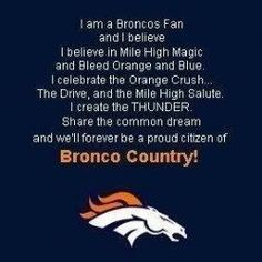 Denver bronco fan