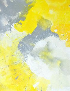 Grey and Yellow Abstract by T30 Gallery