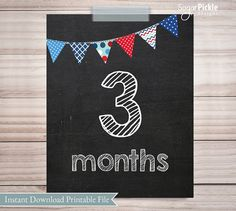 Baby Monthly Chalkboard signs, month by month, 8x10, DIY Printable, 22 DIGITAL FILES