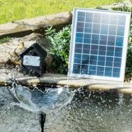 Buy solar water features and solar fountains for the garden. Solar pumps and water feature accessories available. Backyard Water Feature, Water Features In The Garden, Solar Water, Garden Fountains, Ponds, Outdoor Decor, Solar Powered Water Heater, Diy Garden Fountains, Yard Water Fountains