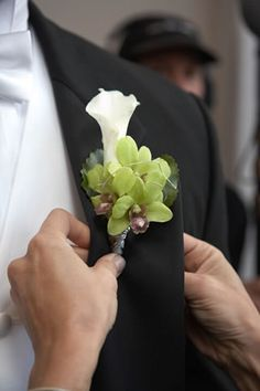 Calla Lily and Orchid Boutonniere