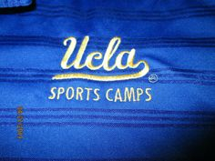 0a81ba6a768d Adidas UCLA SPORTS CAMP Athletic Golf Polo Shirt Blue Tennis S S Mens XL