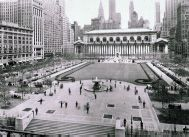 Bryant Park   Directions    Bryant Park is situated behind the New York Public Library in midtown Manhattan, between 40th and 42nd Streets & Fifth and Sixth Avenues.    Take the B, D, F, or M train to 42nd Street/Bryant Park, Take the 7 to 5th Avenue