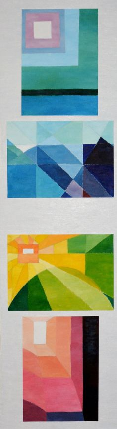 """""""4 Colour Meditations"""" by Janet Thomas . Paintings for Sale. Bluethumb - Online Art Gallery"""