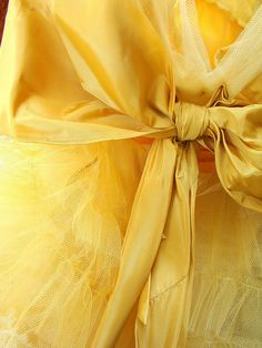 yellow tulle and bow