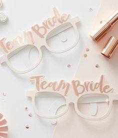 These Team Bride sunglasses are a cool hen party prop accessory and are great for fun hen do photos! #hen #party #do #photos #props #cool #fun #classy #team #bride #hens #night #bridal #shower #bachelorette