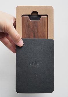 Mine is supposed to arrive soon. Can't wait. Time to downsize my fat ( in size ) wallet -- The Union - A Slim Minimalist Wood Wallet | Indiegogo