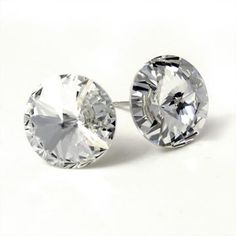 Clear Swarovski Crystal Stud Earrings Jewelry For Her Shoes