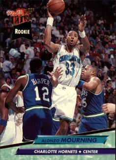 1992-93 Ultra #234 Alonzo Mourning Rookie Card  MINT FROM PACK #Ultra #CharlotteHornets