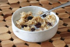 This breakfast bulgur cereal is made with a medium bulgur, skim or 1% milk, and a little brown sugar. I love the chewy texture of the cereal, a nice alternative to oatmeal or other hot cereals.