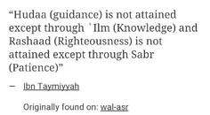 Guidance and Knowledge. Righteousness and Patience.
