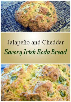 This savory soda bread is easy to make and the base recipe can be used for all sorts of additions other than the jalapeno and cheddar used here. Source by carleencoulter soda bread Quick Bread, How To Make Bread, Cheese Recipes, Veggie Recipes, Savoury Recipes, Veggie Food, Blue Cheese Stuffed Olives, Jalapeno Cheddar, Cheddar Cheese