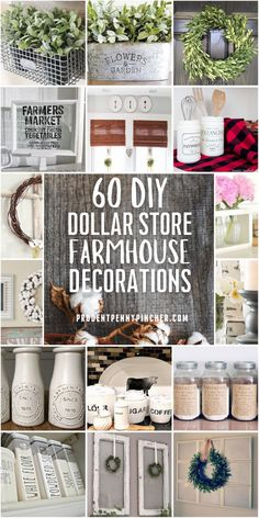 Add a country look to your home on a budget with these dollar store farmhouse decor ideas. From centerpieces to wreaths, there are plenty of DIY farmhouse decor ideas for your kitchen, living room, bathroom and more! These farmhouse style dollar tree crafts are creative and easy to make. Living Room On A Budget, Cozy Living Rooms, Navy Rustic Wedding, Farmhouse Style, Farmhouse Decor, Dollar Tree Crafts, Homemade Crafts, Bathroom Interior Design, Dollar Stores