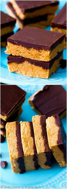Homemade Chocolate Peanut Butter Cup Bars with only 5 ingredients. Just how mom used to make them. These are the BEST.