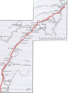 The Tuscarora Path, named after the Tuscarora Indians, traveled from North Carolina through Path Valley to Shamokin. Some claim that it received its name after the original Tuscarora tribe was defeated and its survivors were forced to travel up this path to find refuge within the Iroquois Confederation (eventually becoming the sixth nation in the Iroquois Confederacy). read more on this.