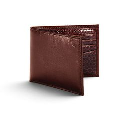Snakeskin Billfold Wallet in Smooth Cognac with Chocolate Snake - Luxury Leather Wallets, Leather Handbags, Cufflinks - British Luxury Leather Goods from Aspinal of London
